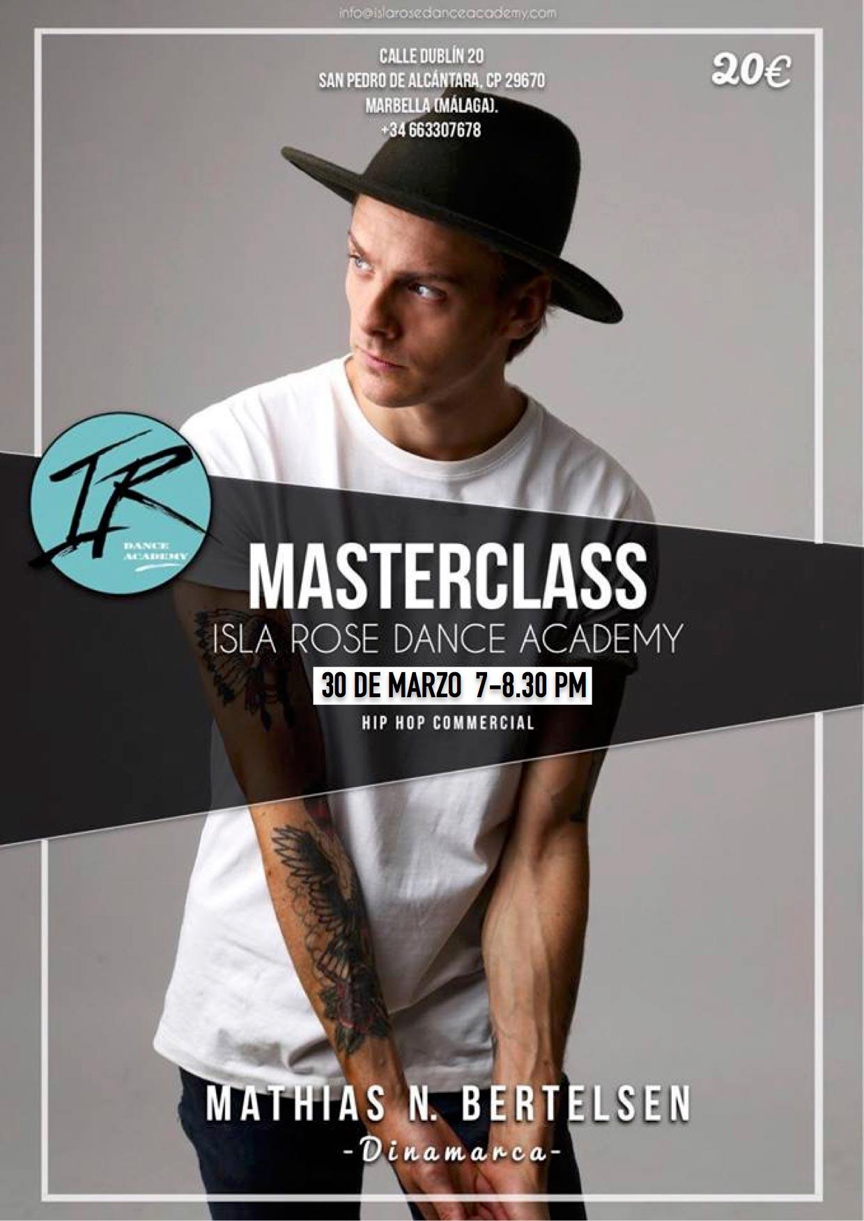 Mathias N Bertelsen - Masterclass Isla Rose Dance Academy