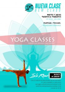 Yoga class with Redouan at Isla-Rose-Dance-Academy