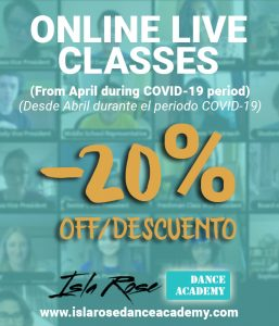 Online Live Dance Classes-20%-descuento - Isla Rose Dance Academy